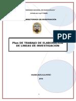 Plan de Trabajo Del Proyecto Lineas de Investigación