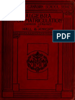 Higher Algebra-Hall & Knight Canadian Edition
