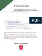 Graduate School Tips- Donald Asher Presentation