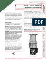89. Garbage Disposer FD3-125 (2)