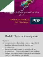 Clase2A Metodología de Investigación Científica Tipos