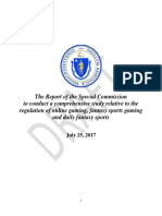Massachusetts Special Commission draft report on Online Gaming and Daily Fantasy Sports