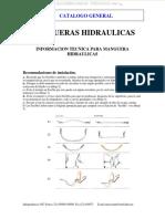 Material Mangueras Hidraulicas Instalacion Seleccion Diametro Equivalencias Medidas Sistema Presion Normas Sae Din
