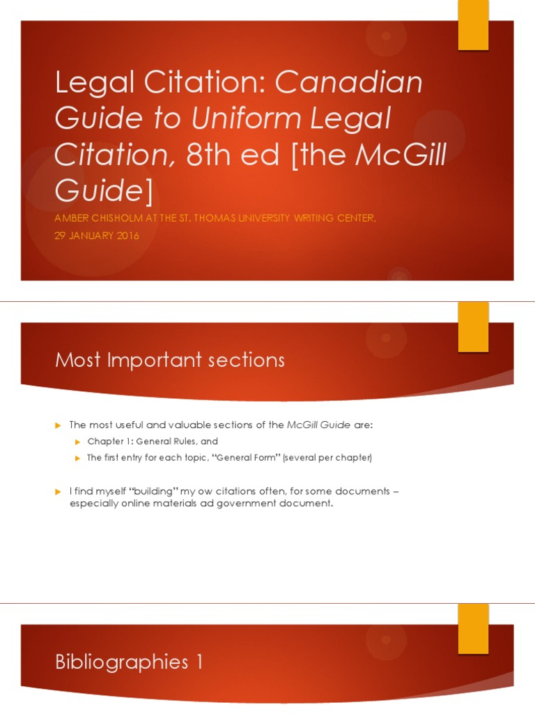 mcgill guide to legal citation
