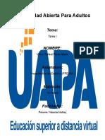 Tarea I Propedeutico de Español UAPA