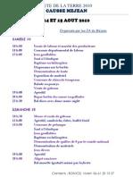 Affiche Programme A4 Blanc