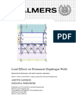 Load Effects on Permanent Diaphragm Walls