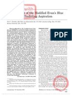 Blue Dye Test in Predicting Aspiration