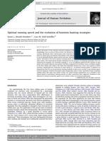 Optimal Running Speed and the Evolution of Hominin Hunting Strategies,. JHE_09