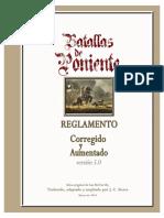 Batallas de Poniente - Reglamento Corregido y Aumentado v5.0 - 38 Pag