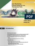BP 6DOF for Planing Boat Hulls