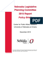 Nebraska Legislature Planning Committee Policy Briefs - 2015