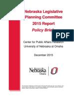 Nebraska Legislature Planning Committee Policy Briefs - 2015