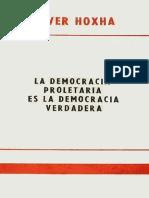 Enver Hoxha 1978 20 Septiembre La Democracia Proletaria Es La Democracia Verdadera