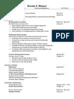 Updated Writing Resume