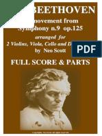 Beethoven Symphony 9 String Quintet