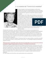 """La Guerra Contra La Población_ 4.1. Margaret Sanger_ La Creadora Del """"Control de La Natalidad"""""""