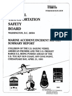 1992 Marine Accident Report of the 1991 collision - American Promise vs Freight Barge