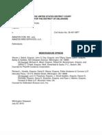 Cordance Corp. v. Amazon. com, Inc. et al., C.A. No. 06-491-MPT (D. Del. July 23, 2010)