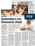 Guatemalteco crea florescencia virtual