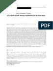 A 1D Elastic Plastic Damage Constitutive Law for Bone Tissue