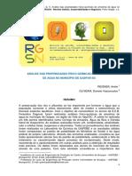 Análise Das Propriedades Físico-químicas de Amostras de Água. REISNER. OLIVEIRA