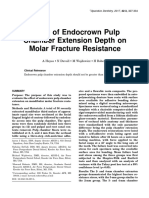 Effect of Endocrown Pulp Chamber Extension Depth on Molar Fracture Resistance 2017