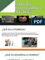 Pobreza y Desarrollo Humano en El Perú