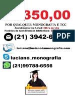 Monografia & tcc por R$350,00 na cidade de  Porto Alegre