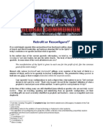 Retrofit or Re Configure