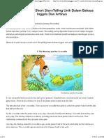cerita pendek bahasa inggris tentang binatang