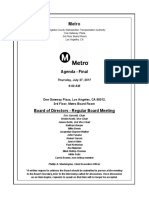Agenda for Metro Board July meeting