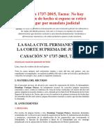 Casación 1737-2015, Tacna