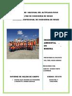 Informde de Salida de Campo de Ambiental 2017
