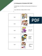 integrated arts schedule