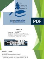Diapositivas Ley Universitariapresentación1