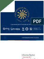 Informe Rector U. de Caldas al Consejo Académico - 12 de Julio 2017