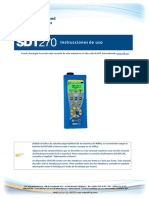 Manual de SDT270 en Español