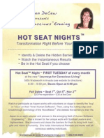 hot seat nights - fall flyer