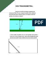 Lista Exercicios Geral Trigonometria- Atividades