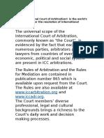 Icc Intl Court Arbitration