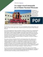 01/02/17 CECyTE Sonora rompe récord entonando simultáneamente el Himno Nacional Mexicano -Canal Sonora