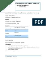 Programa Del Curso de Preparacion Examen Ser Bachiller