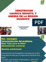 Taller LRS 2014 Huanuco Desnutricion Cronica Infantil y Anemia en La Region Huanuco