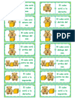 6283 Dnde Est El Cubo Preposiciones Fichas de Domin Juego de Memoria Ejercicios Instrucciones 5 Pginas Editable