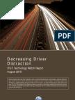 Decreasing Driver Distraction