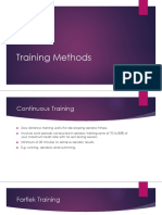 training methods week 1