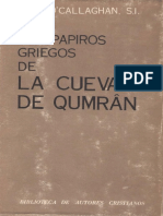 O_Callaghan Jose - Los Papiros Griegos de La Cueva 7 de Qumran