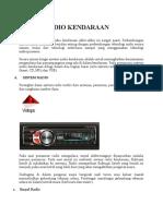 Sistem Audio Kendaraan