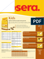 Josera Kids Dog Food Data Sheet
